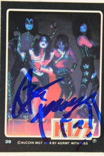 Ace Frehley KISS 'Shock Me' 1978 Autographed Aucoin Signed Card #39 JSA COA