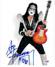 Ace Frehley KISS signed 8x10 Color photo PSA/DNA autograph