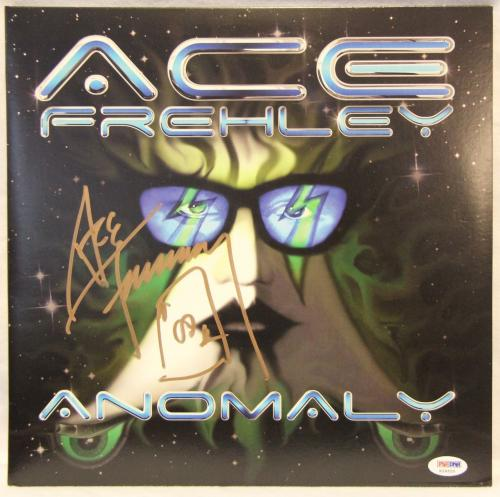 "ACE FREHLEY Kiss Signed Autographed ""Anomaly"" Album LP PSA/DNA #X26520"