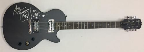 Ace Frehley KISS Signed Autographed Black Epiphone Guitar JSA WP683621