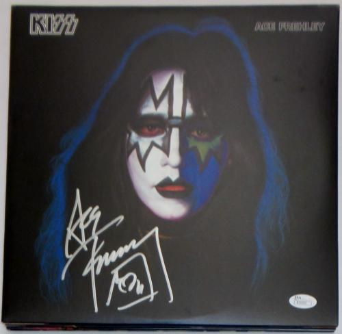 Ace Frehley KISS Signed  Reissued Ace Frehley Album JSA Authentic