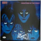 Ace Frehley KISS Signed  Reissued Creatures of the Night Album JSA Authentic.