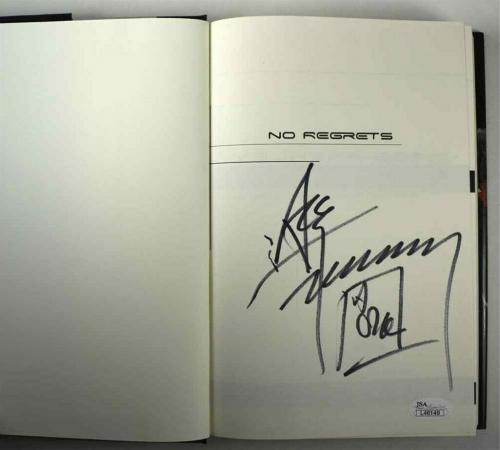 Ace Frehley No Regrets Kiss Autographed Signed Book Certified Authentic JSA COA