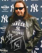 "ACE FREHLEY Signed Autograph ""KISS"" New York Yankees 11x14 Photo PSA/DNA AB96083"