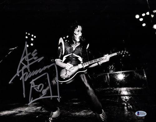"""ACE FREHLEY Signed Autographed """"KISS"""" 11x14 Photo BECKETT BAS #D36989"""