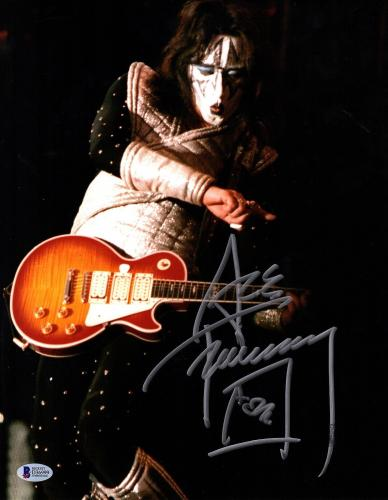 """ACE FREHLEY Signed Autographed """"KISS"""" 11x14 Photo BECKETT BAS #D36999"""