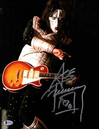 """ACE FREHLEY Signed Autographed """"KISS"""" 11x14 Photo BECKETT BAS #D37000"""