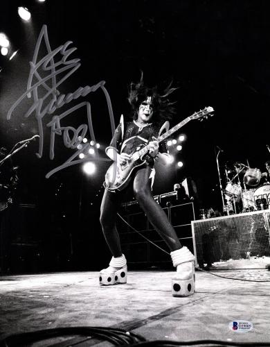 """ACE FREHLEY Signed Autographed """"KISS"""" 11x14 Photo BECKETT BAS #D39005"""