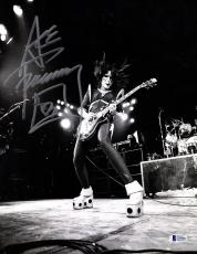 "ACE FREHLEY Signed Autographed ""KISS"" 11x14 Photo BECKETT BAS #D39006"