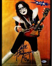 "ACE FREHLEY Signed Autographed ""KISS"" 11x14 Photo BECKETT BAS #D39007"