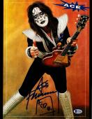 """ACE FREHLEY Signed Autographed """"KISS"""" 11x14 Photo BECKETT BAS #D39008"""