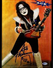 "ACE FREHLEY Signed Autographed ""KISS"" 11x14 Photo BECKETT BAS #D39008"