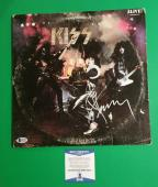 """Ace Frehley Signed """"kiss Alive"""" 2 Lp Album With Photo Proof And Beckett Bas Coa"""