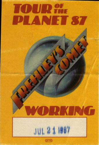 Ace Frehley Vintage 1987 Kiss Backstage Pass Frehleys Comet