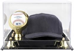 Golden Classic Single Baseball with Cap Display Case - Mounted Memories