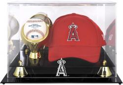 Los Angeles Angels of Anaheim Acrylic Cap and Baseball Logo Display Case - Mounted Memories