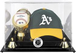 Oakland Athletics Acrylic Cap and Baseball Logo Display Case - Mounted Memories