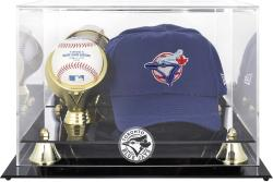 Toronto Blue Jays Acrylic Cap and Baseball Logo Display Case