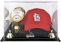 St. Louis Cardinals Acrylic Cap and Baseball Logo Display Case - Mounted Memories
