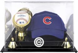 Chicago Cubs Acrylic Cap and Baseball Logo Display Case