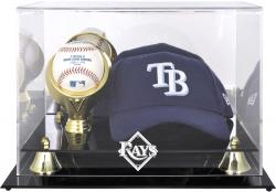 Tampa Bay Rays Acrylic Cap and Baseball Logo Display Case