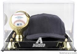 Arizona Diamondbacks Acrylic Baseball and Cap Logo Display Case - Mounted Memories