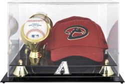 Arizona Diamondbacks 2007 Acrylic Cap and Baseball Logo Case - Mounted Memories