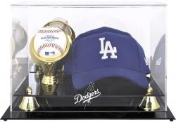 Los Angeles Dodgers Acrylic Cap and Baseball Logo Display Case - Mounted Memories