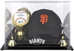 San Francisco Giants Acrylic Cap and Baseball Logo Display Case - Mounted Memories