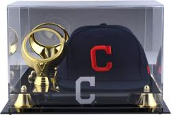 Cleveland Indians Acrylic Cap and Baseball Logo Display Case