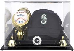 Seattle Mariners Acrylic Cap and Baseball Logo Display Case - Mounted Memories