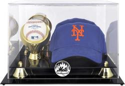 New York Mets Acrylic Cap and Baseball Logo Display Case - Mounted Memories