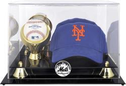 New York Mets Acrylic Cap and Baseball Logo Display Case