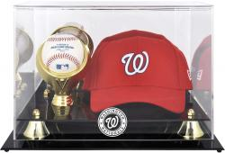 Washington Nationals Acrylic Cap and Baseball Logo Display Case - Mounted Memories