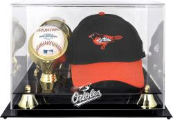 Baltimore Orioles Acrylic Cap and Baseball Logo Display Case - Mounted Memories