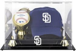 San Diego Padres Acrylic Cap and Baseball Logo Display Case - Mounted Memories