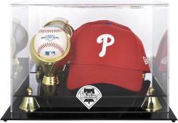 Philadelphia Phillies Acrylic Cap and Baseball Logo Display Case
