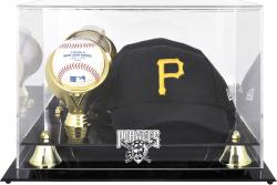 Pittsburgh Pirates Acrylic Cap and Baseball Logo Display Case - Mounted Memories