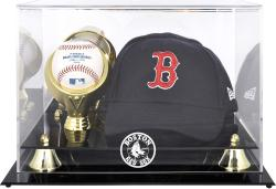 Boston Red Sox Acrylic Cap and Baseball Logo Display Case - Mounted Memories
