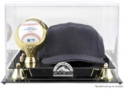 Colorado Rockies Acrylic Cap and Baseball Logo Display Case - Mounted Memories