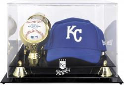 Kansas City Royals Acrylic Cap and Baseball Logo Display Case - Mounted Memories