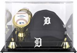 Detroit Tigers Acrylic Cap and Baseball Logo Display Case