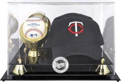 Minnesota Twins Acrylic Cap and Baseball Logo Display Case - Mounted Memories