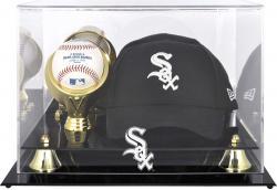 Chicago White Sox Acrylic Cap and Baseball Logo Display Case