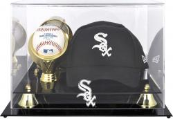 Chicago White Sox Acrylic Cap and Baseball Logo Display Case