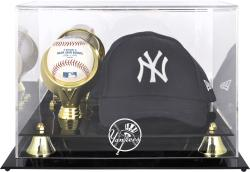 New York Yankees Acrylic Cap and Baseball Logo Display Case - Mounted Memories