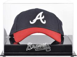 Atlanta Braves Acrylic Cap Logo Display Case - Mounted Memories