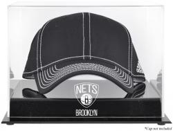 NBA Brooklyn Nets Acrylic Cap Logo Display Case - Mounted Memories