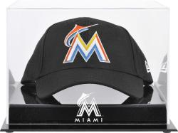 Miami Marlins Acrylic Cap Logo Display Case - Mounted Memories