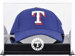 Texas Rangers Acrylic Cap Logo Display Case - Mounted Memories